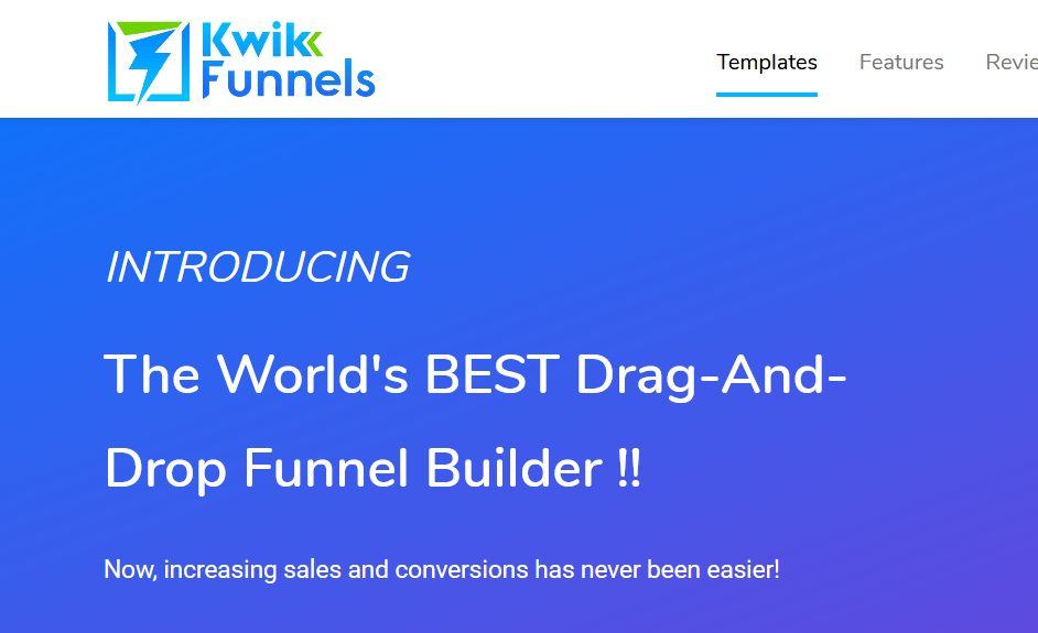 Kwikfunnels Review Drag and Drop Website Builders