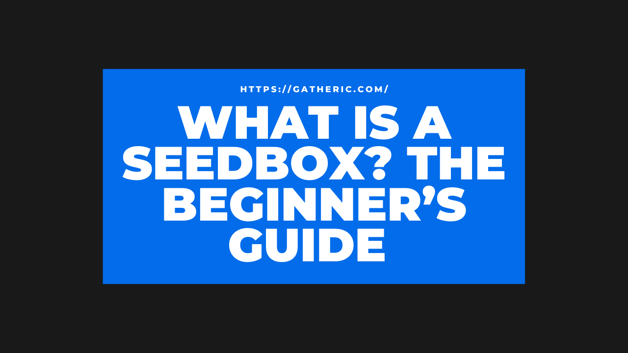 WHAT IS A SEEDBOX? THE BEGINNER'S GUIDE